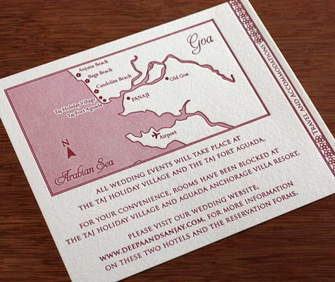Direction Map Make For Invitations