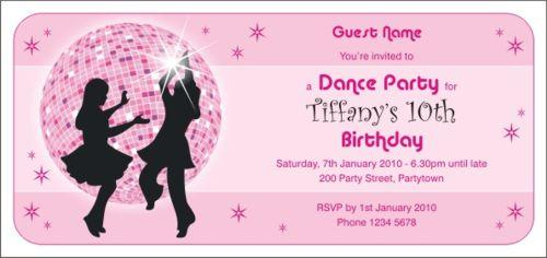 Disco Invitations For Kids