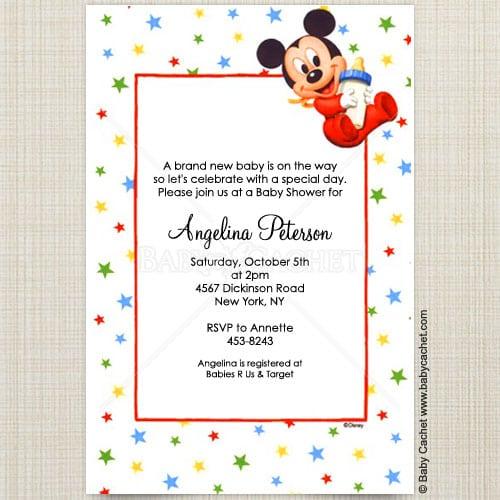 Disney Baby Mickey Mouse Invitations