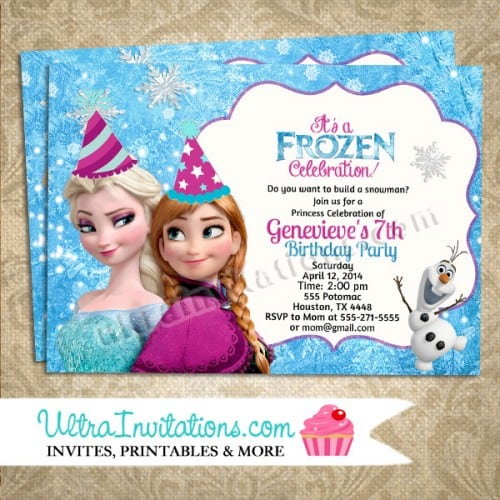 Disney Birthday Invitations Online