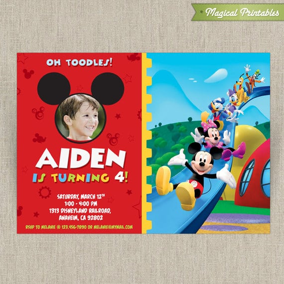 Disney Mickey Mouse Clubhouse Invitations