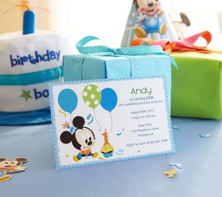 Disney Mickey Mouse Invitations