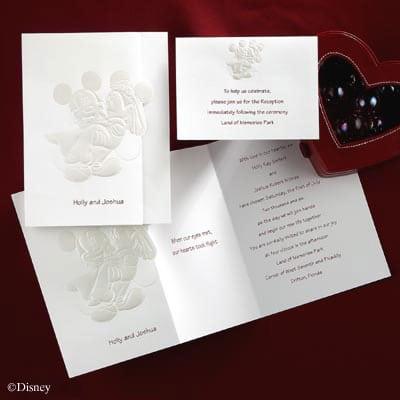 Disney Mickey Mouse Wedding Invitations