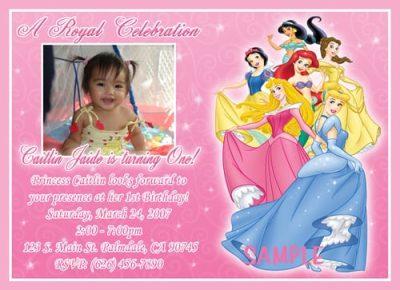 Disney Princss Invitations