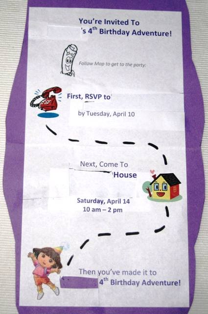 Dora Backpack Invitation Templates