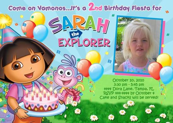 Dora Birthday Invites