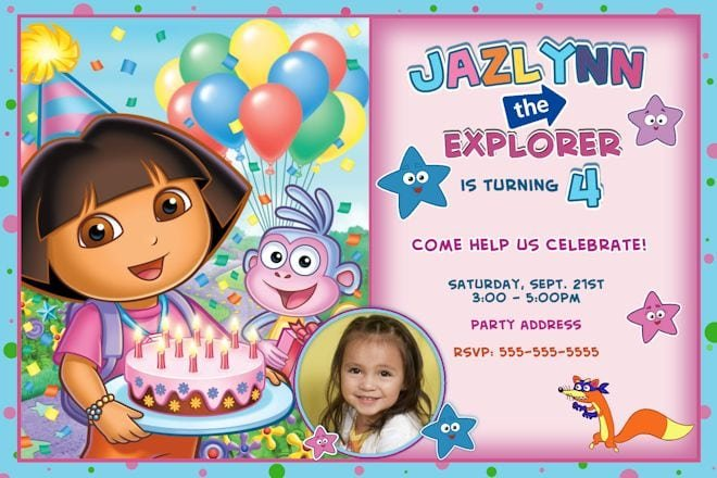 Dora The Explorer Invitations Online