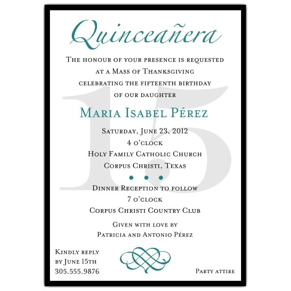 Invitation Samples For Quinceanera. Download Free Quinceanera Invitation Templates