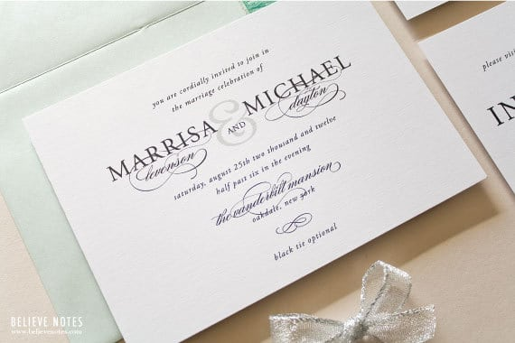 Dress Code Options For Wedding Invitations