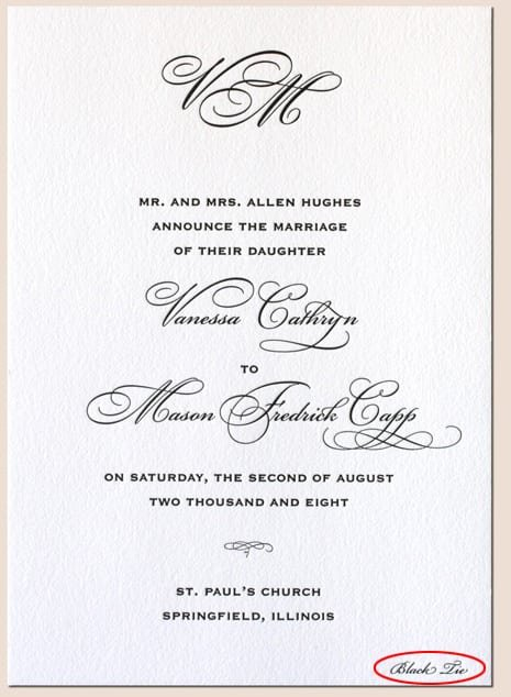 Dress Code Wedding Invitation Etiquette