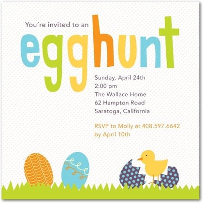 easter party invitations