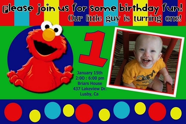 Elmo Invitation Templates