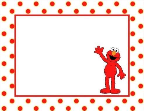 Elmo Invite Templates