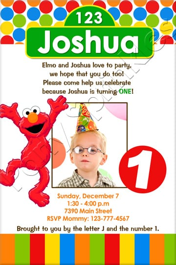 Elmo Party Invitation Template