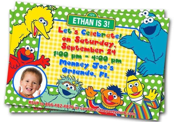 Elmo Printable Party Invitations Template
