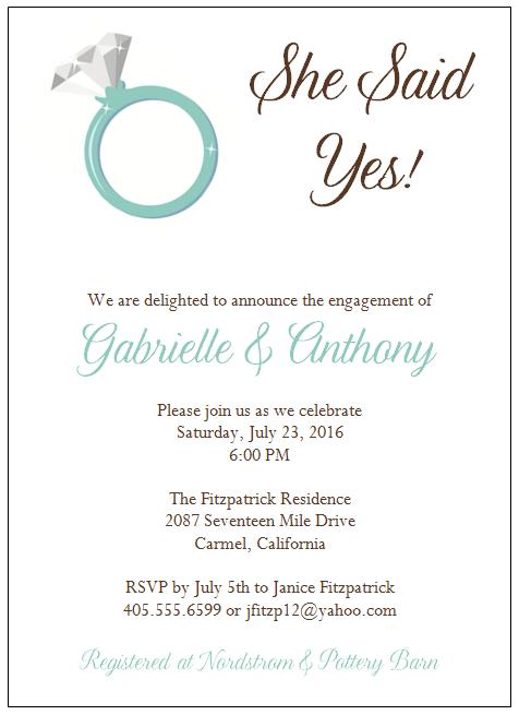 engagement invitation format – Engagement Invitation Matter