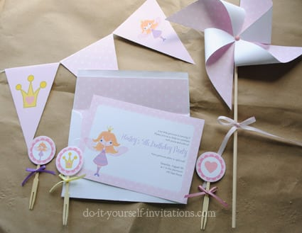 Fairy Princess Party Invitations Printable