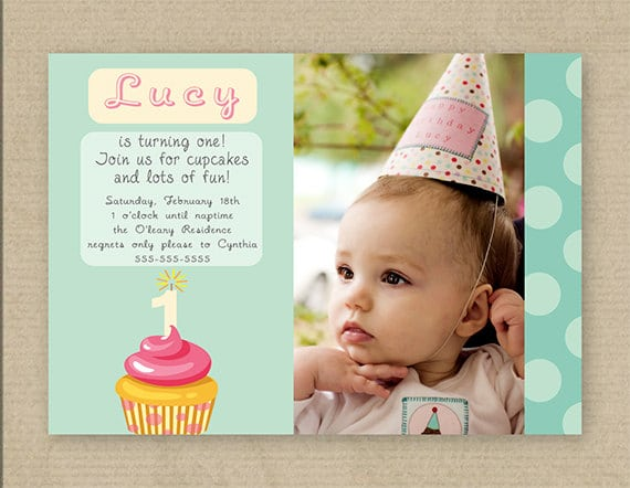 First Birthday Invitation Printable Cards