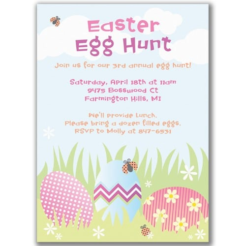 Easter egg hunt party invitations for easter egg hunt party invitations stopboris Gallery