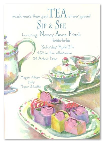 Formal Invitation To Tea Party