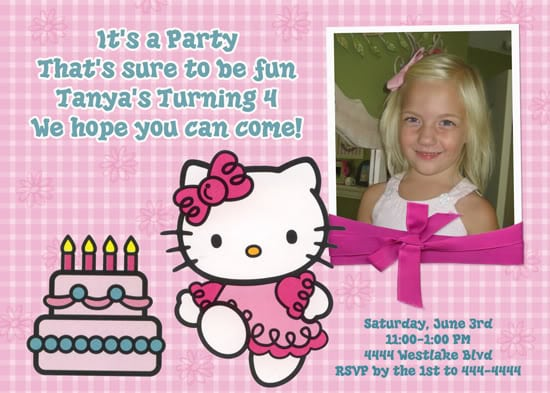 Frame Hello Kitty For Invitation Templete