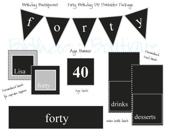 Free 40th Birthday Party Templates