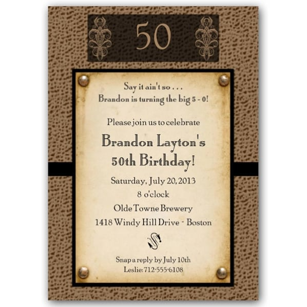Free 50th Birthday Invitation Wording