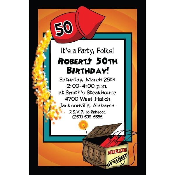 Free 50th Birthday Invitations