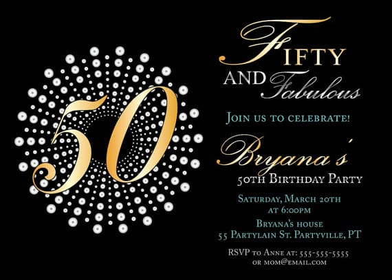 Free 50th Birthday Party Invitation