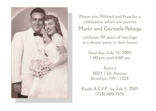 Anniversary party invitation templates free stopboris Choice Image