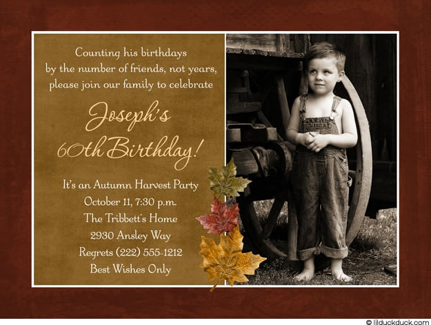 Free 60th Birthday Invitation Wording