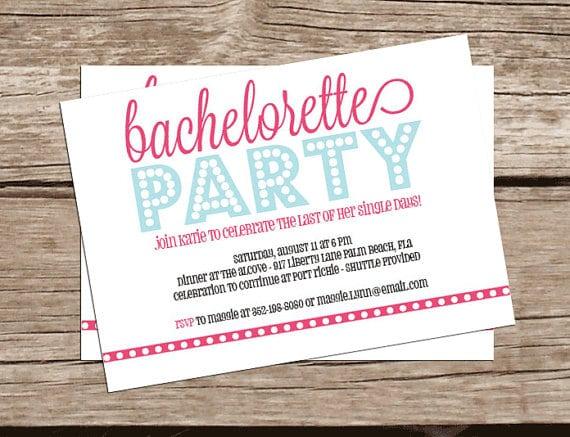 Free Bachelorette Invitations Printable