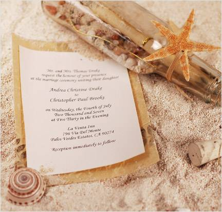 Free Beach Wedding Invitation Designs