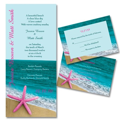 Free Beach Wedding Invitation Samples