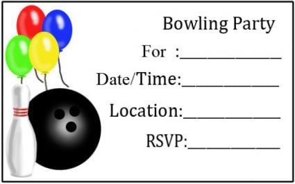 Free Birthday Invitations Printable Bowling