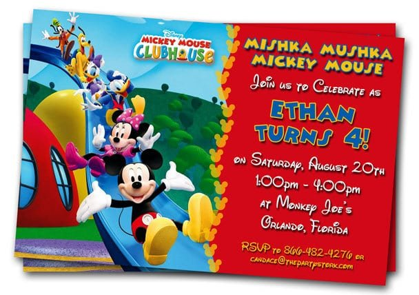 Free Birthday Invitations Templates Mickey Mouse Clubhouse