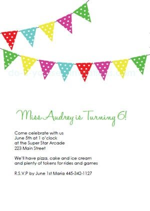 Free Birthday Party Invite Templates