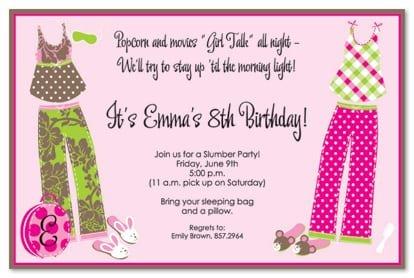 Free Birthday Sleepover Invitation Templates
