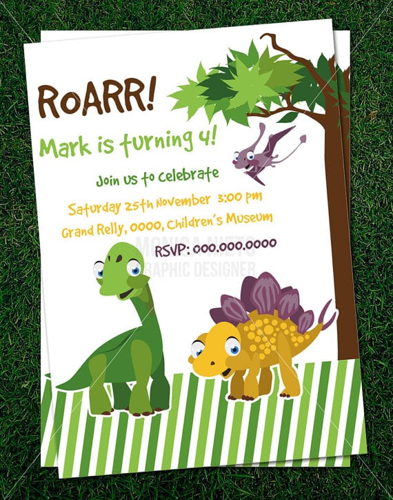 Free Dinosaur Wedding Invitation Templates Free