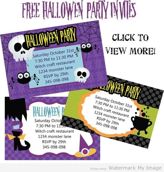 Free Downloaded Halloween Invitation Template