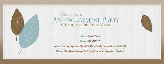 Free Engagement Invitations Online