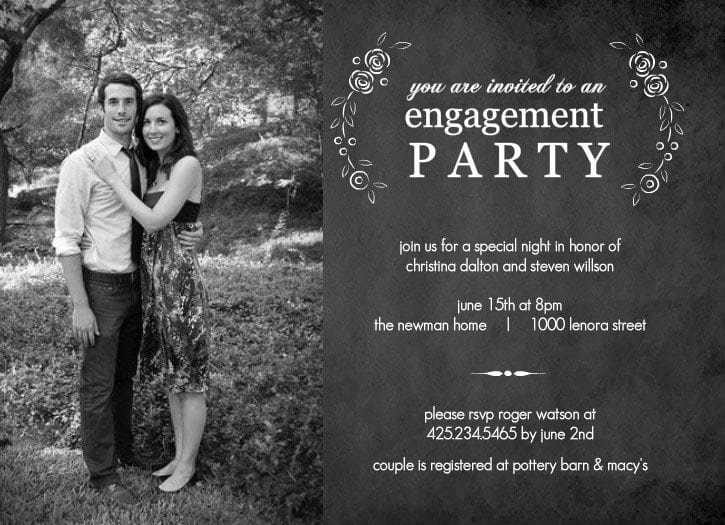 Free Engagement Party Invitation Templates Printable  Engagement Invitation Templates