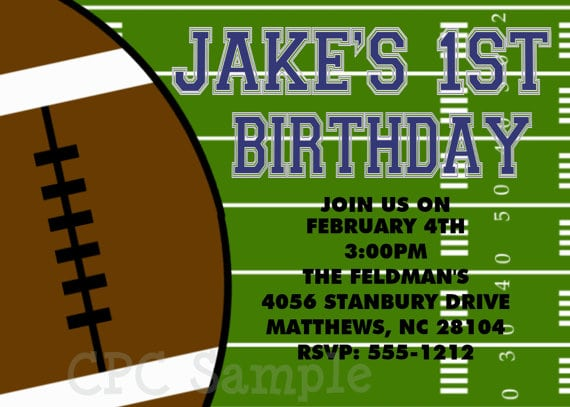 Free Football Birthday Invitations Printable
