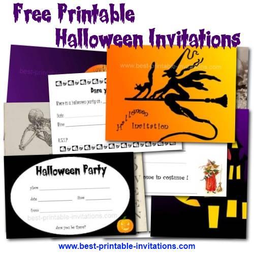 Free Halloween Birthday Party Invitations