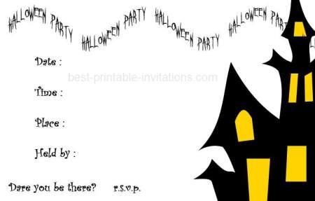 Free Halloween Invitations Printable