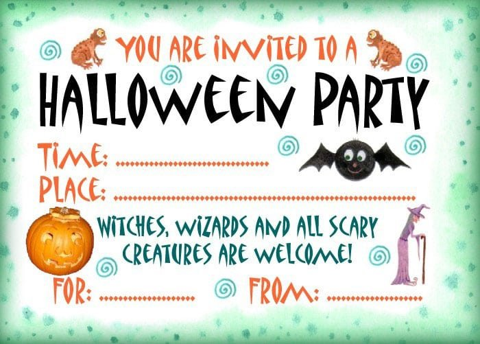Free Halloween Invites For Parties