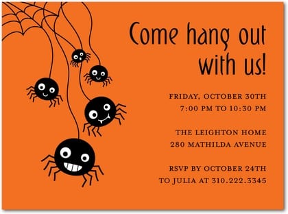 Free Halloween Invites To A Party