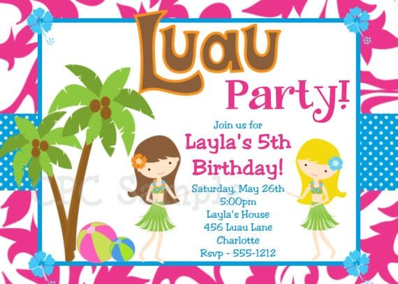Free Hawaiian Invitations
