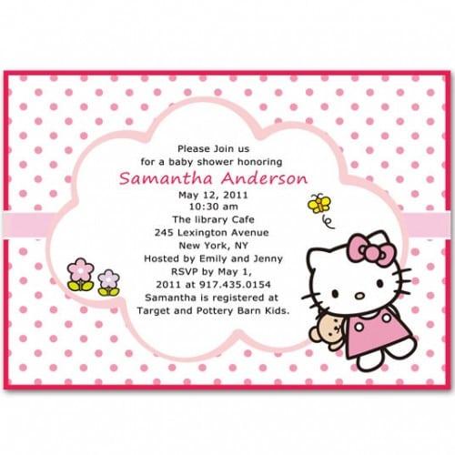 free hello kitty baby shower invitation templates