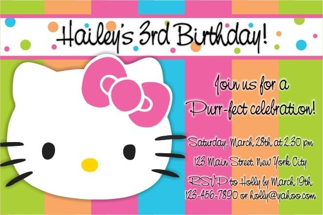 Free Hello Kitty Birthday Invitations